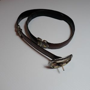 BRIGHTON GENUINE LEATHER REVERSIBLE BELT~ M 30